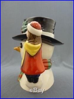 SNOWMAN Royal Doulton Limited Ed. Large Character Toby Jug Mug D7241 384/500