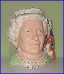 Stunning & Rare Royal Doulton Prototype Queen Elizabeth II Character Jug Mint