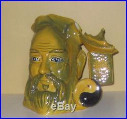 Super Rare Royal Doulton Yellow Flambe Confucius Character Jug Excel. Condition