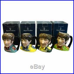 Set of 4 Royal Doulton Beatles Toby Jugs (UK)