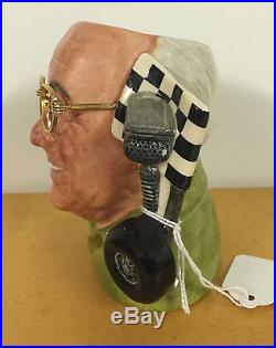 Small Royal Doulton Character Jug Murray Walker Obe D7094 Excellent