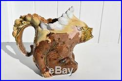 Super Rare Antique Doulton Lambeth Art Pottery Fantastic Grotesque Fish Jug