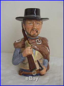 Toby jug. Clint Eastwood. The good the bad and the ugly. Not royal doulton