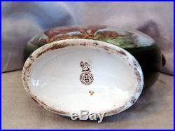 Very RARE Royal Doulton GREEN Kingsware Monarch Of The Glen Dewars Flask Jug