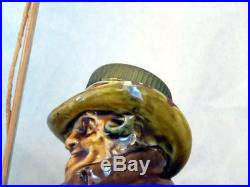 Very RARE Royal Doulton Kingsware TONY WELLER Figural Bottle Flask Jug Flagon