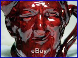 Very Rare Flambé Royal Doulton Auld Mac Toby Jug Flambe Color Sample Glaze Trial