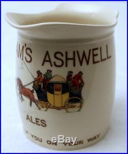 Very Rare Fordham's of Ashwell (Herts) Ales Royal Doulton Jug 1900-1920s AF