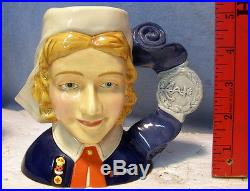 Very Rare ROYAL DOULTON Character Jug SAMPLE by CASDAY EXCELLENT