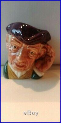 Vintage Royal Doulton Character Jug'ard Of'earing D6594 Mini 2 1/2 1964-67