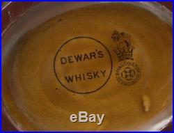 Vintage Royal Doulton Kingsware Dewar's Whisky Jug/Flask'Mr. Micawber
