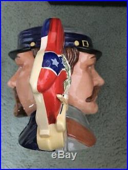 Vintage Royal Doulton Large CIVIL WAR D7266 2 Face Character Toby Jug Mug 55/350