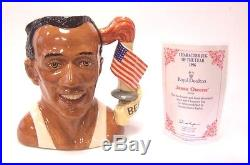 Vintage Royal Doulton Large Toby Jug Of The Year 1996 Jesse Owens D7019 7.5tall