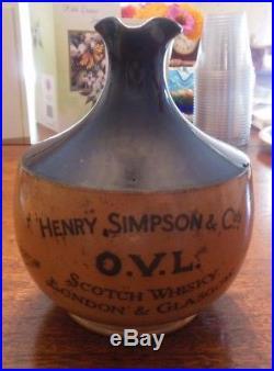 Vintage Royal Doulton Stoneware Crockery Jug O. V. L. Scotch Whiskey Steamship