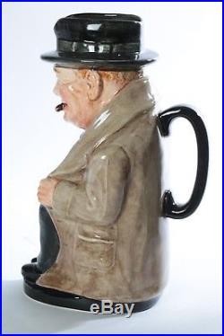 Vintage Royal Doulton Winston Churchill 9.25 Toby Mug Jug signed 1940 Michael