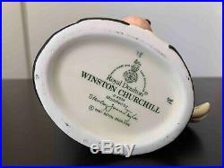 Vintage Royal Doulton Winston Churchill Toby Mug Jug V-Day England