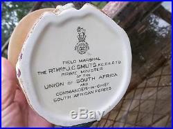 Vtg Lrg Royal Doulton Field Marshal J C Smuts Prime Minister S Africa Jug Xlnt